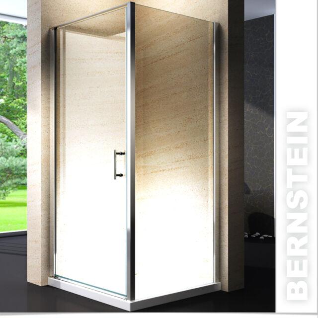 Duschkabine Duschabtrennung Dusche Rechteck NANO ESG-Echtglas Glas 1950mm