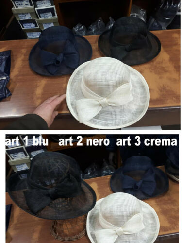 cappello elegante taglia unica lad DONNA pam cerimonia hat  2018 a 30 moc