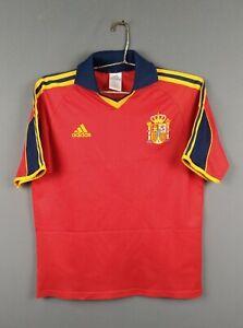 Spain soccer jersey Youth XL 1999 2001 home shirt football Adidas ig93