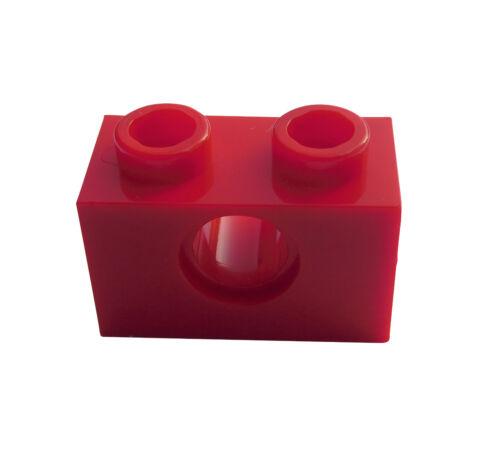 3700 Lego 50 rote Techniksteine 1x2 mit Loch Neu Steine in rot red bricks