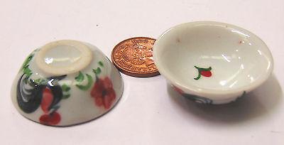 1:12 Scale Single Ceramic Cockerel Dish 4cm Tumdee Dolls House Accessory C62