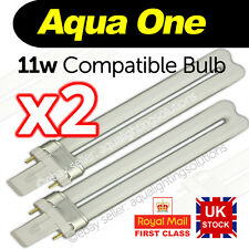 x2 Aqua One AquaStart 320/40/500 AquaStyle 380/510 11w 2 pin lightbulbs