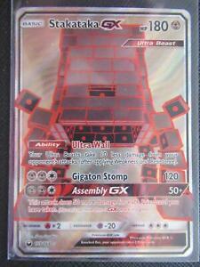 POKEMON CELESTIAL STORM TCG STAKATAKA GX FULL ART 159//168 Holo Foil Card