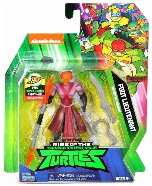 """Rise of The Teenage Mutant Ninja Turtles FOOT LIEUTENANT /""""MYSTIC MONK/"""" NEW VHTF"""