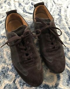c826f8f1d66 Tod s RARE Men s Chocolate Suede Driving Sneakers Lace Up Sz 38 US 6 ...