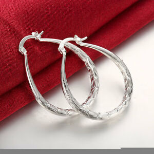 925-sterling-silver-filled-oval-hoop-vintage-style-earrings-wedding-jewellery