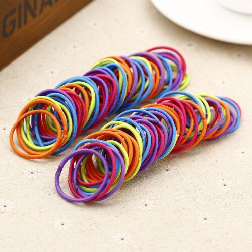 50//100x Women Girls Hair Band Ties Rope Ring Elastic Hairband Ponytail Holder #