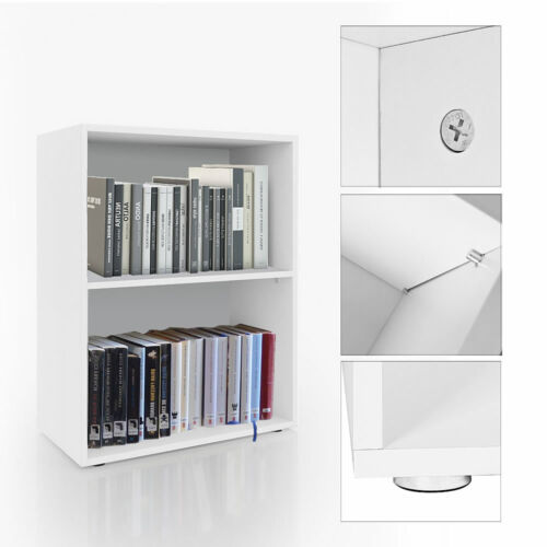 Bücherregal Wandregal Bücherschrank Bücherwand Aktenschrank Regal Weiß 2 Fächer