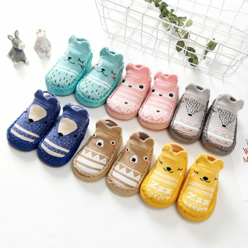 Baby Girl Boy Anti-slip Socks Cartoon Newborn Slipper Shoes Boots 0-24Months Hot