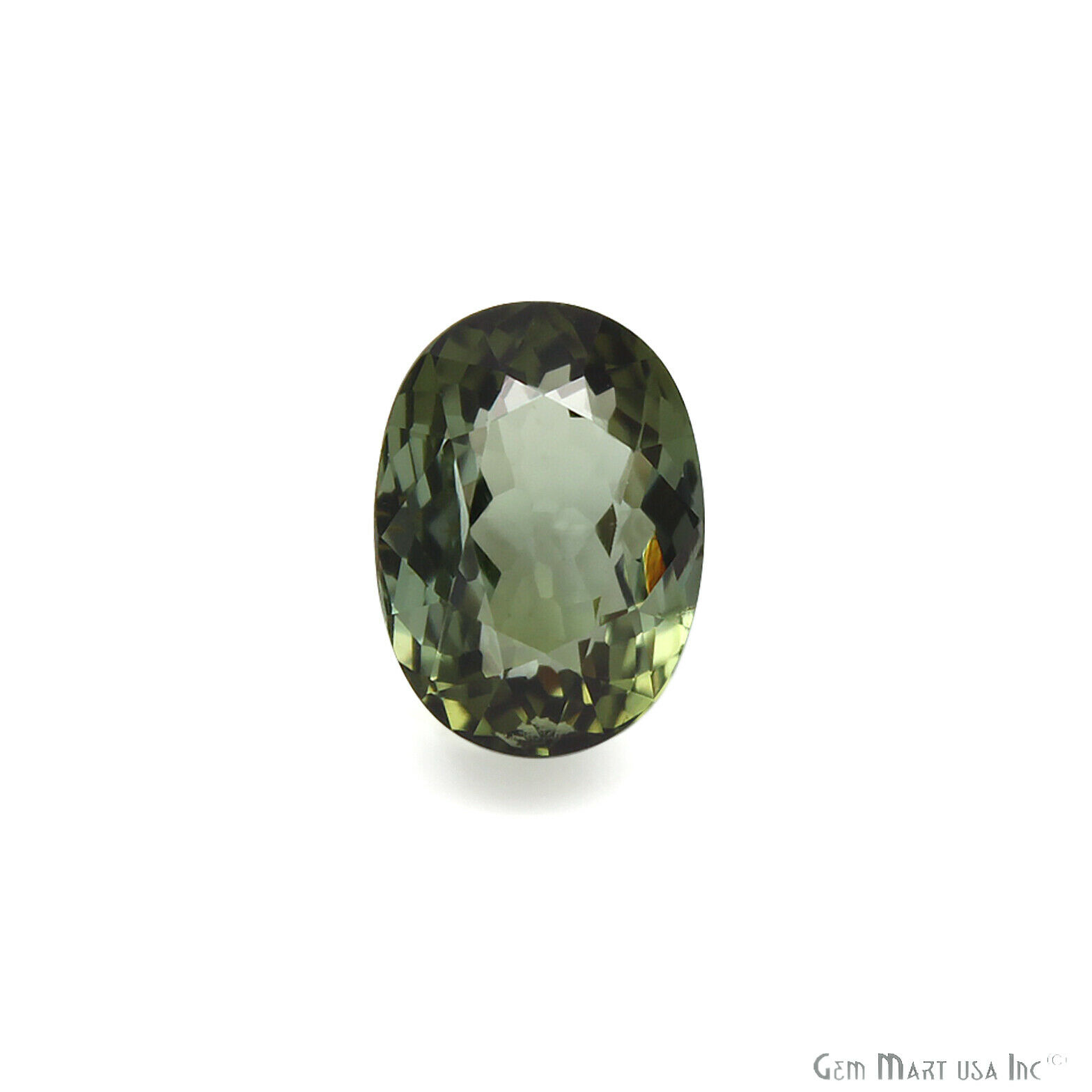 Natural top quality ring size green faceted tourmaline loose gem