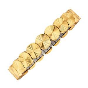 MAGNETIX-Armband-4542-Flexi-Kreisdesign-goldfarben-Breite-10-0mm-Magnetschmuck