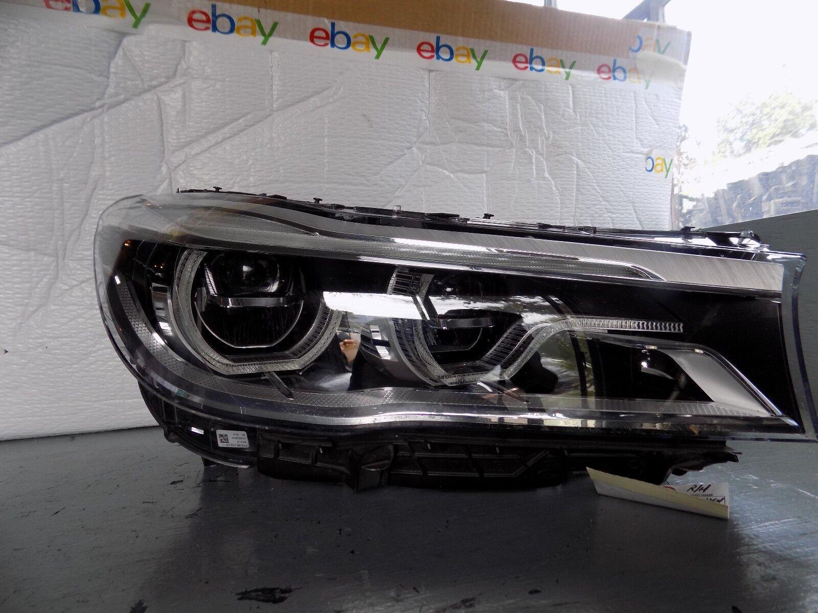 2016 2017 Bmw 7 Series Right Side Headlight Full Led Adaptive Oem For Sale Online Ebay