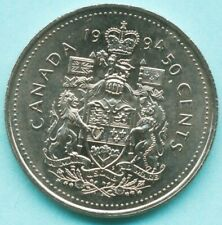 uncirculated 1994 Canada 50 Cents coin from mint roll