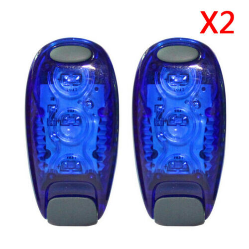 2pcs 3 LED Light Clip-on Bike Cycling Taillight Running Safety Warning Rear Lamp
