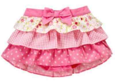 Gymboree MINI BLOOMS floral gingham ruffle tiered bloomer skirt 6-12 months NWT