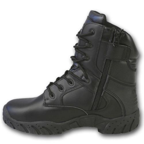 Boot pelle in fiore pieno punta rivestimento leggero nero Pro Kombat 3m Tactical Uk WYq6A0w1p