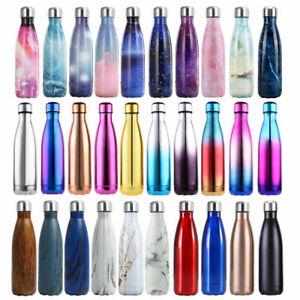 Edelstahl Trinkflasche Isolierflasche Wasserflasche Thermosflasch Bürste Sports