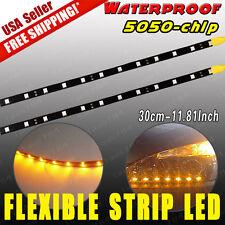 "2pcs 12"" 30CM Flexible LED Underbody Light Strip Car Motor Boat 12V Waterproof"