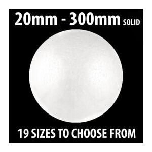 20mm--250mm SOLID POLYSTYRENE BALL STYROFOAM CRAFT CANDY SWEET TREE POLY BALLS