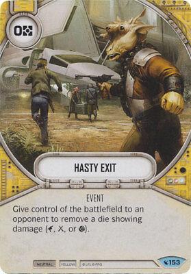 #153 NM Common 2x Hasty Exit SW Destiny LEGACIES