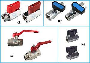 Kugelhahn-Mini-Kugelhahn-Wasserhahn-Druckluft-Ventil-Knebelgriff-G1-8-034-bis-G4-034