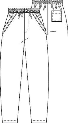 MED Uomo Ospedale//Scrub//dentale//Carer blu chiusura zip tasca posteriore Pantaloni S M XL