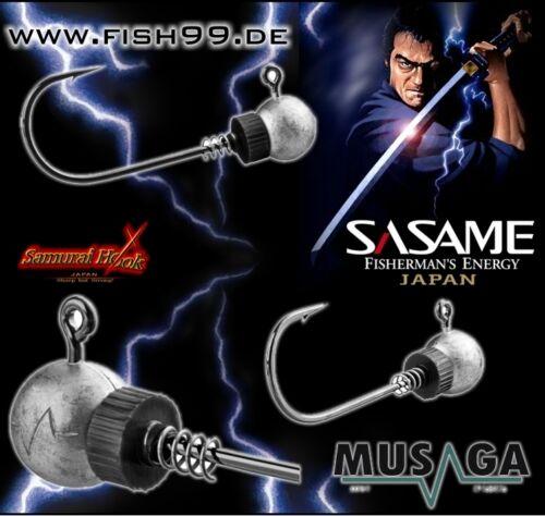 10 St SASAME-MUSAGA JAPAN 4//0 17 g Jig-Haken mit Spirale