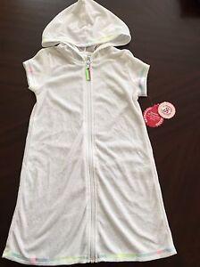 26a3e81258 NEW SO Girls Terry Cloth Hooded Swim Beach Cover Up Dress UPF 50 ...