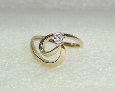 MODERN DIAMOND SWIRL RING SET IN 14KP YELLOW GOLD SIZE 6 N280-H