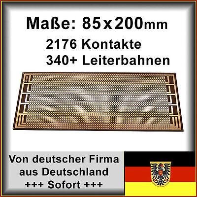 10X Lochrasterplatte Streifenrasterplatine-Streifenraster Platine Doppelseitig