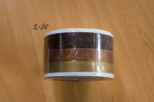 Gold Bronze Brown Triple car stripes Retro Decal Coachlines 38mm Extra Wide 10m