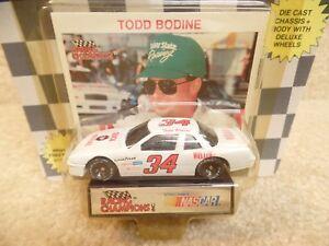 1991-Racing-Champions-1-64-NASCAR-Todd-Bodine-Quick-Beverage-Buick-Regal-34-b