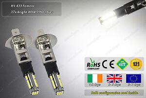 2x-LED-H1-433-4500k-Xenon-White-Fog-Daytime-Running-Lights-DRL-Bulbs-Lamps-W5W