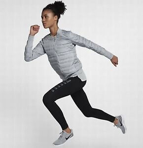Women s Nike Aeroloft Down Fill Running Jacket 856634-012 Grey Large ... bf19da537