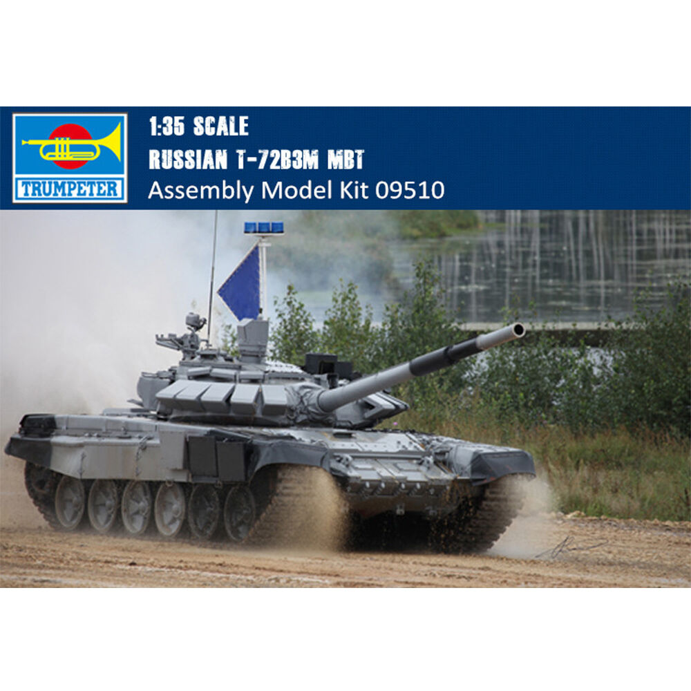 09510 Trumpeter 1 35 Model Russian T-72B3M MBT Tank Plastic Armored Car Kit