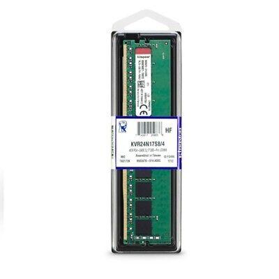 Kingston Memory KVR24N17S8//8 8GB DDR4 2400 Unbuffered Retail