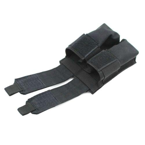 Tactical Molle Double Magazine Pouch Pistol Cartridge Clip Pouch Black