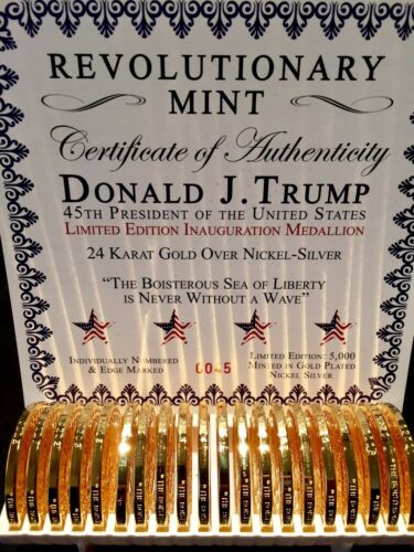 2017 SERIES I LTD EDITION HISTORIC TRUMP GOLD PRESIDENTIAL ONE OZ COIN WOW!