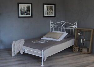 vintage flair metallbett 90x200 in weiss ecru oder schwarz inkl lattenrost ebay