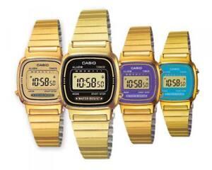 Orologio-Donna-CASIO-Vintage-LA-670WG-Gold-Acciaio-Dorato-Classico-Digitale-DD
