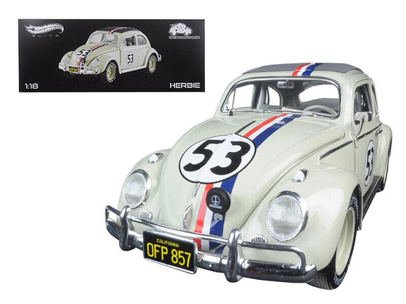 1963 Volkswagen Beetle Herbie va a Monte Carlo Elite Edition 1 18 Diecast