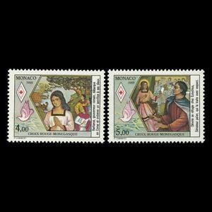 Monaco-1988-Red-Cross-034-Saint-Devote-Patron-Saint-of-Monaco-034-Sc-1643-4-MNH