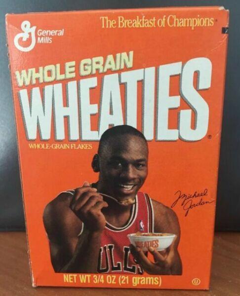 Wheaties Mini Cereal Boxes Mary Lou Retton Michael Jordan