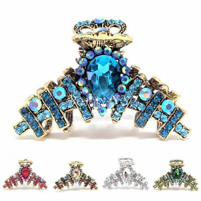 "Fashion Jewelry Energetic New 2.5"" Medium Elegant Austrian Crystal Metal Bridal Hair Clip Jaw Clamp Pins High Quality Goods"