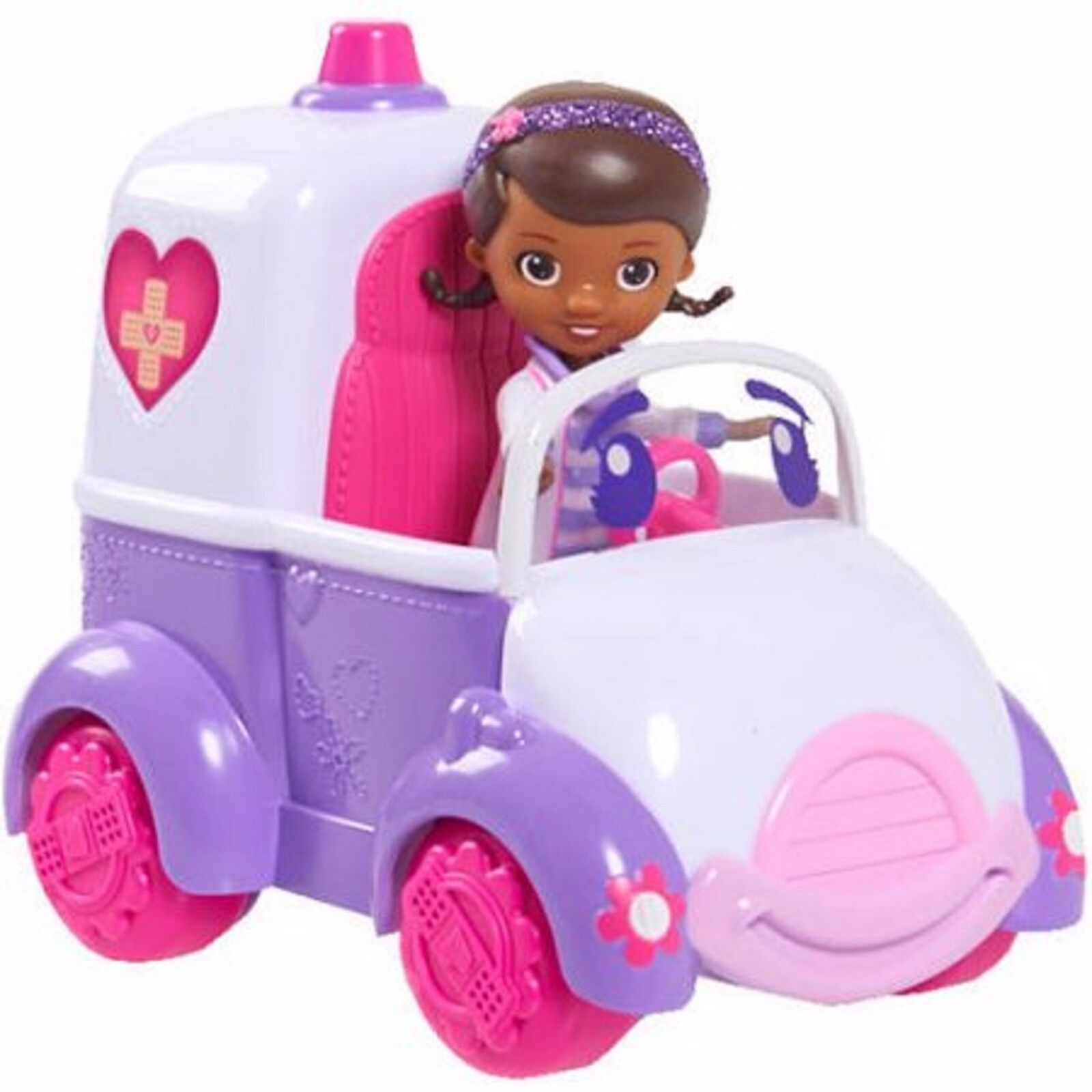 Doc McStuffins Rosie Car with Doc Ages 3+ New Toy Mobile Doll Talk Play Girls