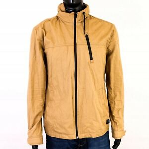 R-Jack-Jones-Mens-Jacket-Hood-Beige-size-XL