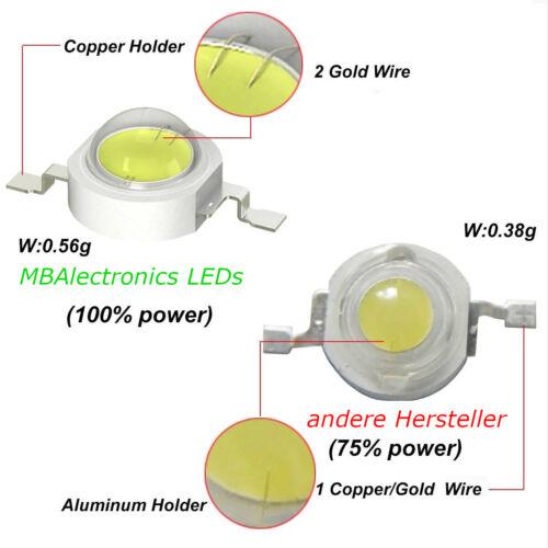 Aquarium High Power LED IR 940 3 Watt Technik 3 W 940 nm Pflanzen