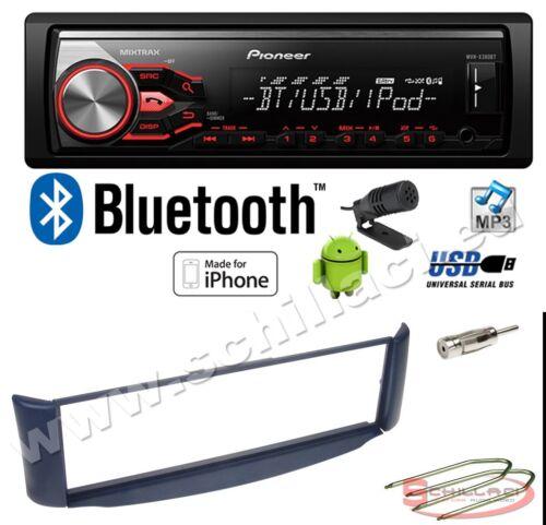 Kit montaggio per Smart Fortwo bl Pioneer MVH-390BT autoradio USB bluetooth