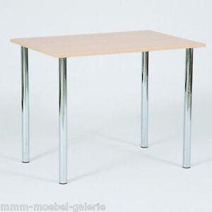 Design Esstisch Küchentisch Bistrotisch Mit Chromfuß 110 X 68 Cm Neu