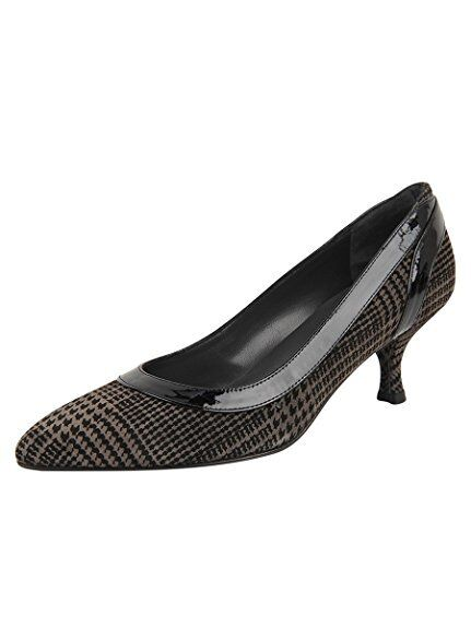 340 Stuart Weitzman damen Collarama Plaid Suede Pump Smoke US 11 NEW IN BOX